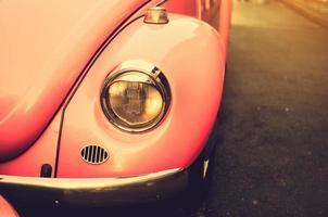 carro rosa vintage foto