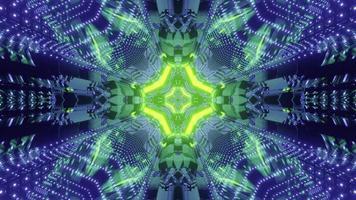 ilustração 3d do fundo abstrato da tecnologia sci fi
