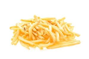 batatas fritas isoladas foto
