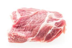 carne de porco crua isolada foto
