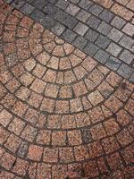 fundo texturizado de pavimento, linhas e formas foto