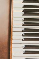 velhas teclas de piano vintage