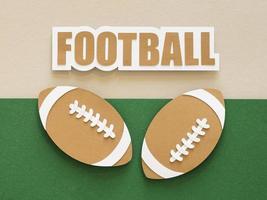 recorte de papel de bolas de futebol americanas