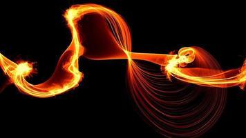 chama de fogo abstrata em fundo escuro