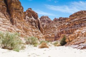 desfiladeiro do deserto rochoso foto