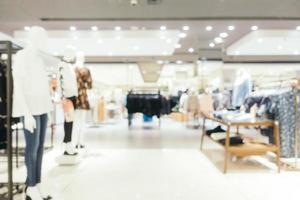 interior abstrato desfocado de shopping para o fundo
