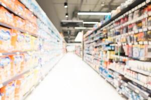 supermercado borrão abstrato foto