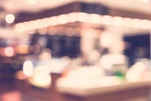 borrão abstrato do fundo da cafeteria - filtro vintage foto