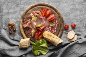 conceito de carne fresca plana foto
