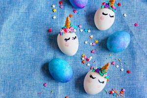 ovos de páscoa unicórnios foto