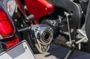 tubo de escape em uma motocicleta foto