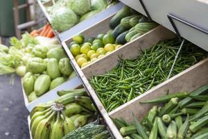grupo de vegetais orgânicos frescos foto