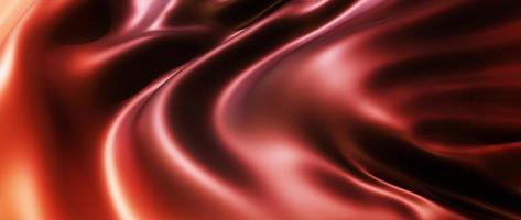 Renderização 3D de fundo de pano marrom e vermelho foto