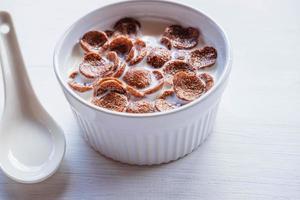 close-up de uma tigela de cereal