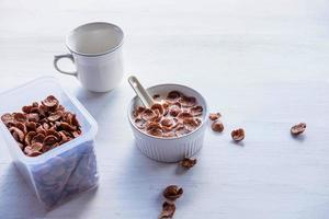cereal no café da manhã