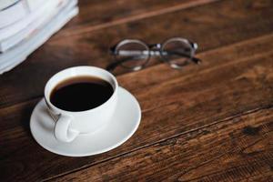 café e copos foto