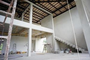 perspectiva interior design moderno de casa em construção