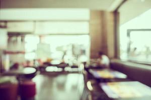 borrão abstrato interior de café e restaurante foto
