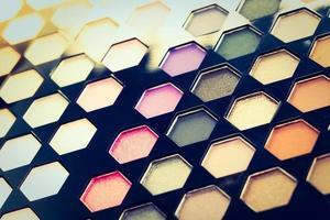 close up cosmético de sombra para os olhos