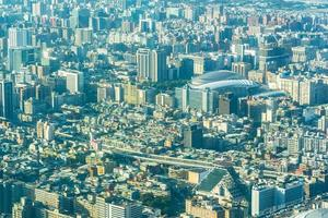paisagem urbana da cidade de taipei em taiwan foto