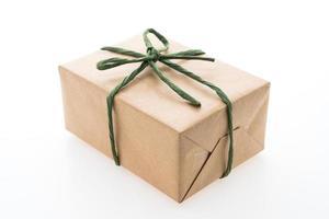 caixa de presente marrom foto