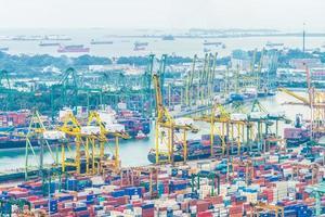 porto de embarque de Singapura foto
