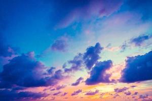 nuvem no céu foto