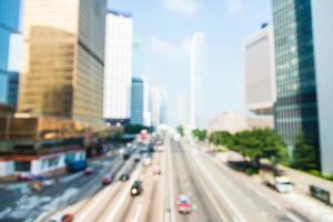 borrão abstrato fundo da cidade de hong kong foto