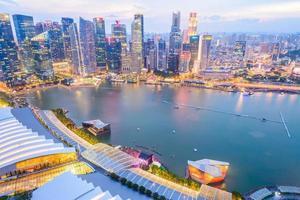 skyline da cidade de cingapura