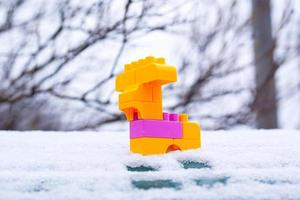 brinquedo natal inverno cervo na neve foto
