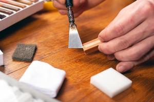 Kit de ferramentas de reparo de madeira para laminado e parquete foto