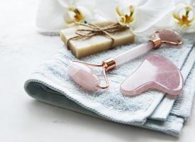 produtos naturais para a pele e spa foto