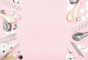 fundo rosa de aniversário com espaço de cópia