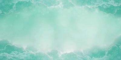 fundo de céu azul com nuvens e flocos de neve no inverno, renderização em 3D foto
