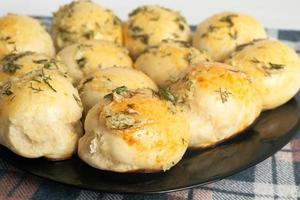 pães assados quentes foto