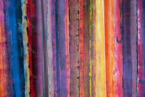 linhas horizontais coloridas formando um belo padrão foto