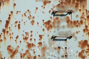 textura de metal enferrujado fundo de metal velho azul pintado com textura de ferrugem foto