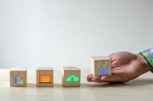 conceito de crescimento de blocos de construção