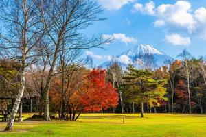 paisagem em mt. fuji no japão foto