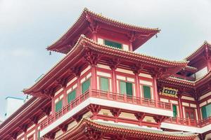 lindo templo de dente de Buda em Singapura