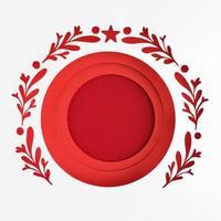 modelo de cartão de natal vermelho foto