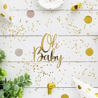 modelo de cartão ouro chá de bebê
