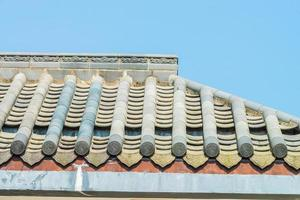 telhado de um templo, estilo chinês foto