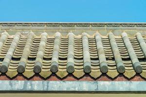 telhado no templo em estilo chinês foto