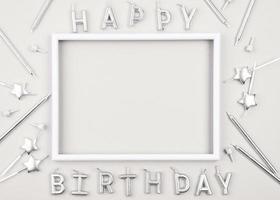 modelo de cartão de feliz aniversário foto