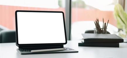 tablet com modelo de stylus foto