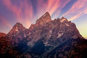 nascer do sol no parque nacional grand teton foto