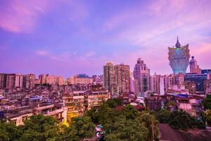 paisagem urbana da cidade de macau, china foto
