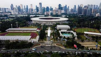 Jacarta, Indonésia 2021 - estádio de futebol de Gelora Bung Karno no centro de Jacarta