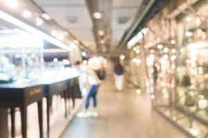 desfocado interior de centro comercial para o fundo de compras